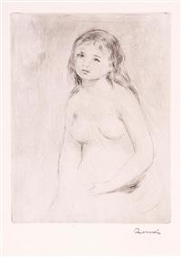 étude pour une baigneuse (study) by pierre-auguste renoir
