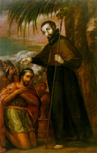 san francisco javier bautizando a un indio by juan rodríguez juárez