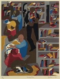 schomburg library by jacob lawrence
