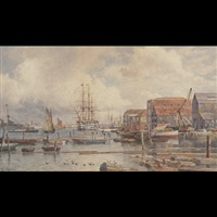 at the quayside (portsmouth harbour?) by martin snape