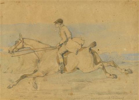 at full gallop by alfred de dreux
