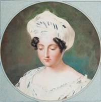portrait de femme au turban by étienne charles leguay