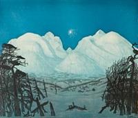 vinternatt i fjellene by harald sohlberg