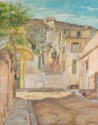a sunny street by nikos xenos