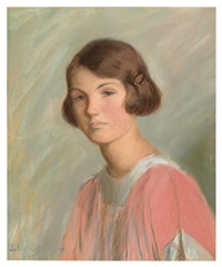 portrait of edith grew, the artist's granddaughter by lilla cabot perry