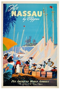 fly to nassau by clipper/pan american world airways by mark von arenburg