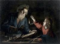 saint joseph et l'enfant jésus by trophîme (theophisme) bigot the elder