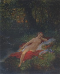 evening repose by gustave staal