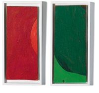 rempacabeza uno (2 works, various sizes) by mary heilmann