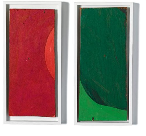 rempacabeza uno 2 works various sizes by mary heilmann