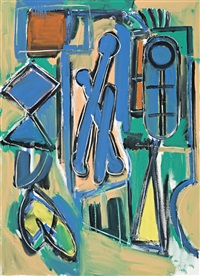 three figures by dick watkins