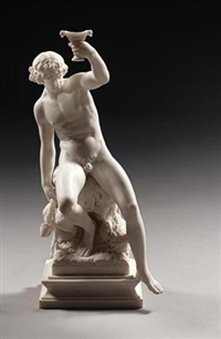seated bacchus by percival ball