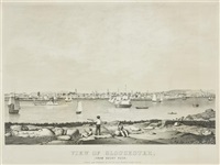 view of gloucester from rocky neck by fitz henry lane