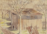 backyard scene by aaron douglas