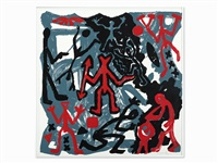 abstract archaic figures by a.r. penck