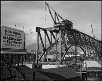 building vancouver series: granville street bridge under construction #1 by karl huber