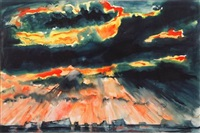 sun, storm clouds and icebergs by david smith
