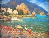 sur la plage by galina rumyantseva