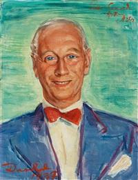 portrait of conrad m. pineus by nils von dardel