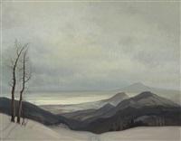 landscape by christian gotthard hirsch