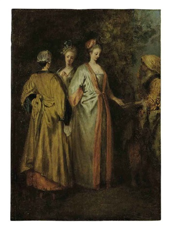 the fortune teller by jean antoine watteau