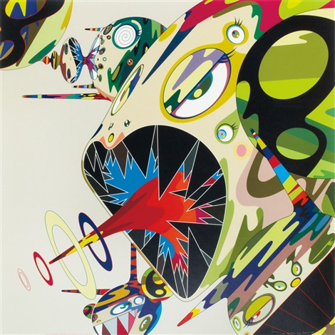 homage to francis bacon study of isabel rawsthorne by takashi murakami