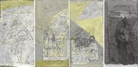 四季图 (four season) (4 works) by leng hong