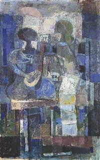 le musicien bleu (the blue musician) by omar el-nagdi