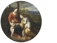 the mystic marriage of saint catherine by french school (17)