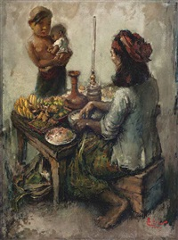 balinese rojak seller by lee man fong