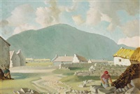 cottages in keel, achill island by harry epworth allen