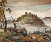 blick auf die ruine waxenberg by walter kreindl