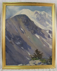snowy western mountains by marion boyd allen
