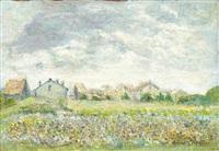 paysage avec groupe de maisons by albert gleizes