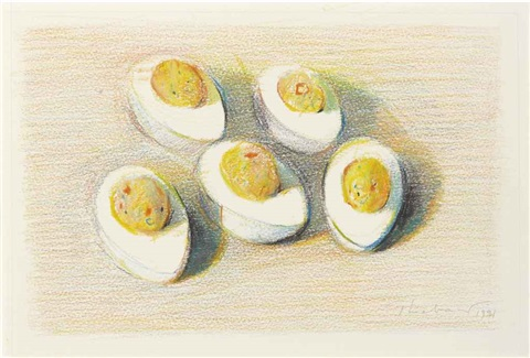 deviled eggs by wayne thiebaud