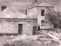 the back yard, beulah, tasmania by jack carrington smith
