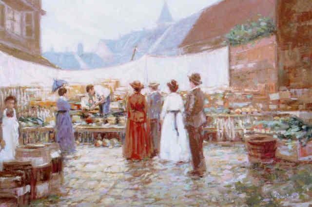 market scene by c james frazier
