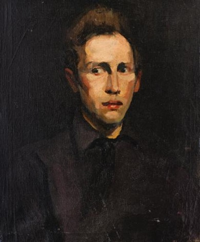 portrait of a young man by george wesley bellows