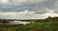 landscape with a river by adrianus van everdingen