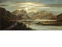 loch lubnaig (+ llyn graffnant, north wales; pair) by charles leslie