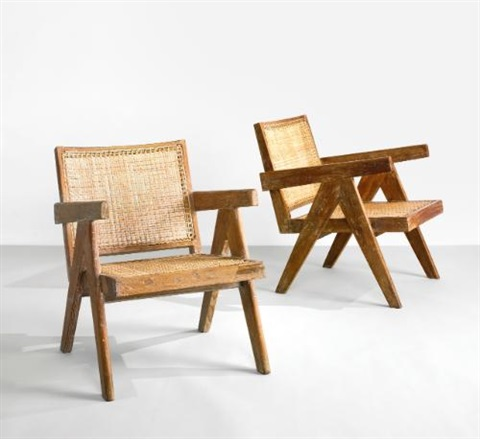 easy chairs model no pj si 29 a from chandigarh india pair by pierre jeanneret