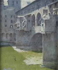ponte vecchio by norman hepple