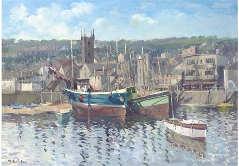 st. ives harbour by john ambrose