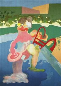 sin titulo - serie: greta garbo. desnudo en la piscina by carlos alcolea