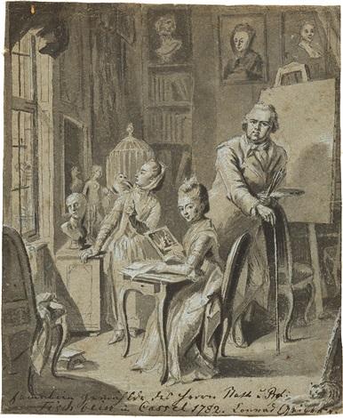 die familie des malers johann heinrich tischbein d ä by conrad geiger