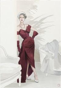 trompe l'œil : la robe fourreau - printemps-été 1949 by annie goetzinger