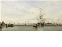 venice from the lagoon by edward william cooke