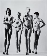 sie kommen (naked), paris by helmut newton
