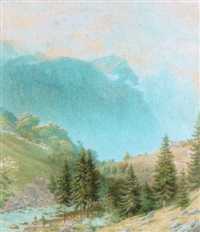 the jungfrau from lauterbrunnen, switzerland by henry anelay
