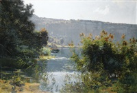 paysage du doubs by marie-victor-emile isenbart